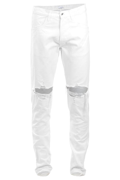 e6fecc82 White Ripped Tapered Jeans | Enslaved® Clothing