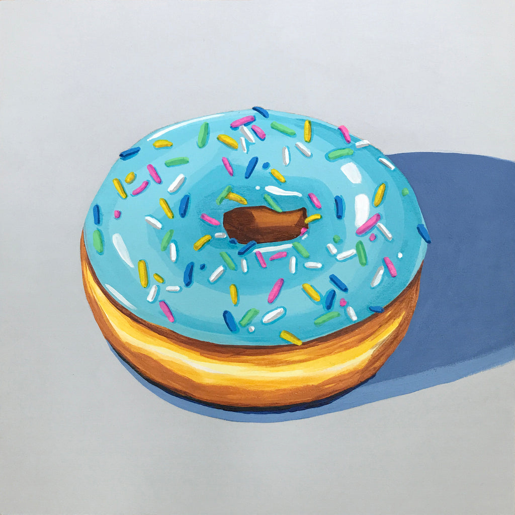 Blue Glazed with Sprinkles