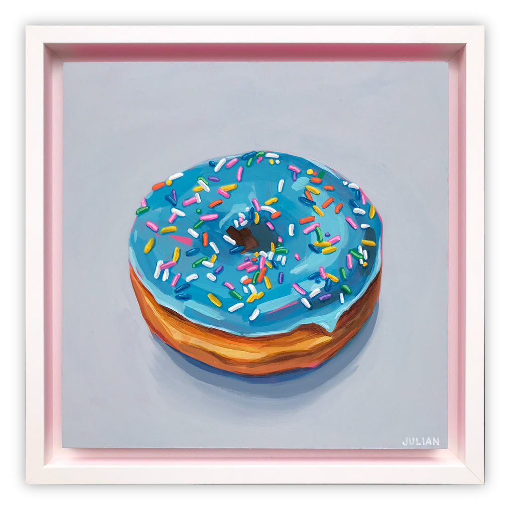 Blue Glazed Donut with Sprinkles