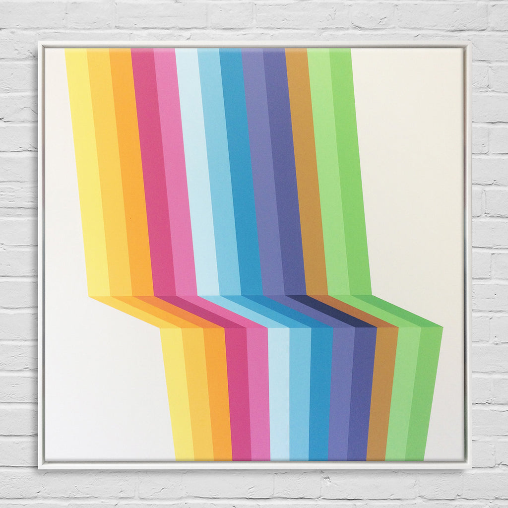 Rainbows and Unicorns in White Floater Frame