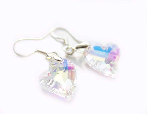 Mother's day heart Swarovski® Element Hook Drop Earrings