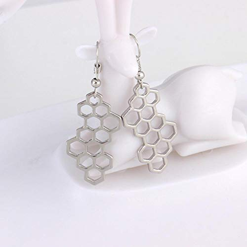 Molecule Chemistry Earrings Silver