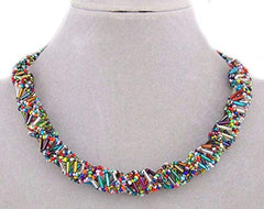 DNA Necklace (Multi-Color Glass)