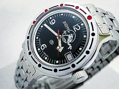 Stock Vostock Amphibia Russian Dive Watch