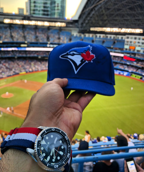 Seiko SKX007 With an Aviator Nato Strap at the Blue Jays game