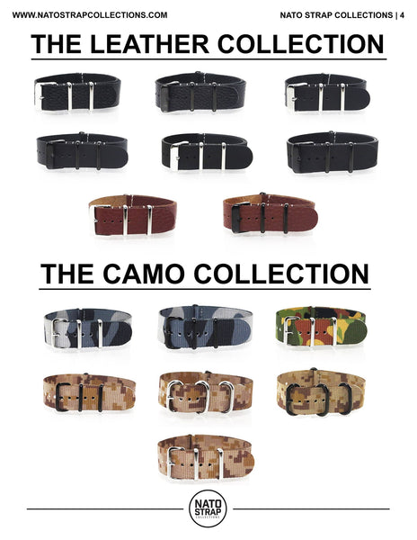 The Leather Nato Straps and Camouflage Nato Straps in the Spring 2016 Lookbook