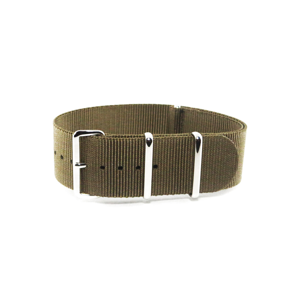 "Gold NATO Strap with Polished Silver Buckle ""The Bullion Strap"" - Nato Strap Collections"