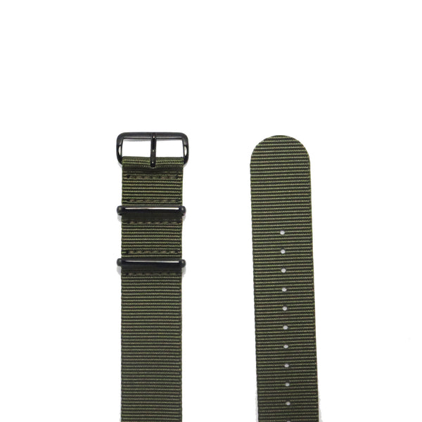 "Green NATO Strap with PVD Black Buckle ""The Khaki Green Strap"" - Nato Strap Collections - 2"
