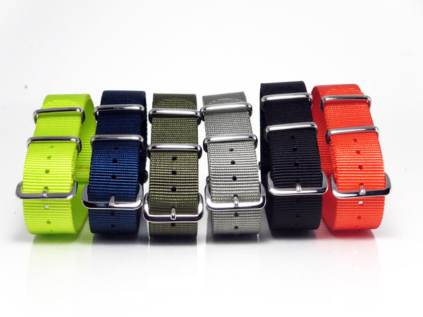 New! Solid Nato Bundle with Polished Silver Buckle - Nato Strap Collections - 2