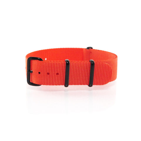 "Orange NATO Strap with PVD Black Buckle ""The Oranje Strap"" - Nato Strap Collections - 1"