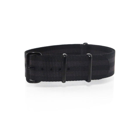 "Black and Brown NATO Strap with PVD Black Buckle ""The Cappuccino Strap"" - Nato Strap Collections - 1"