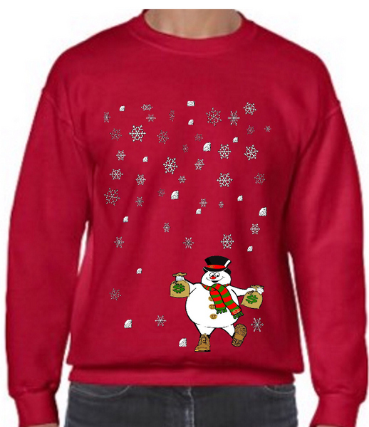 Ugly AZ Xmas Sweater Mini Snowman (Red)