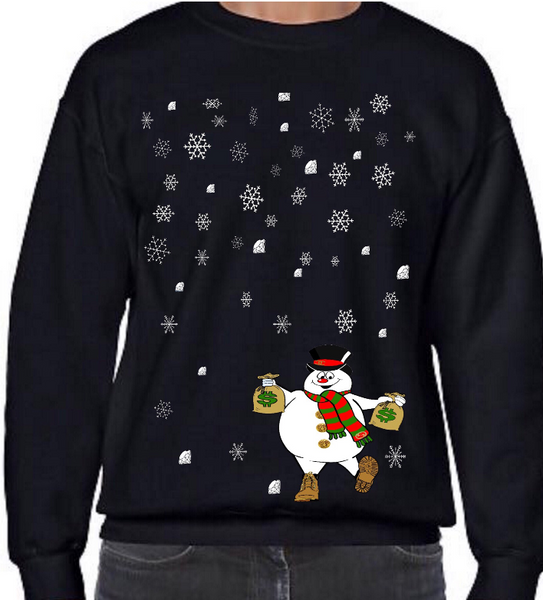 Ugly AZ Xmas Sweater Mini Snowman (Black)