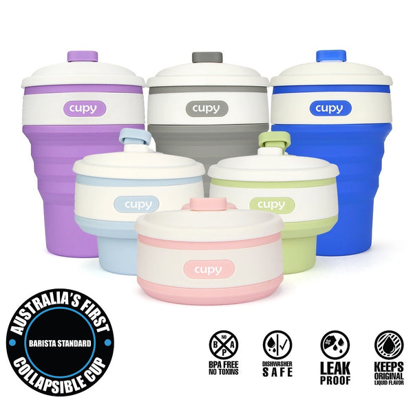 Cupy Collapsible Reuseable BPA Free Coffee Cup