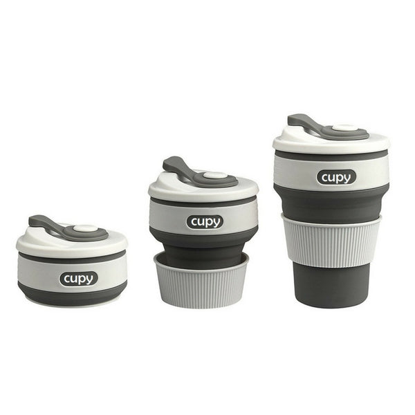 Cupy Collapsible Coffee Cup Sky Grey Australia