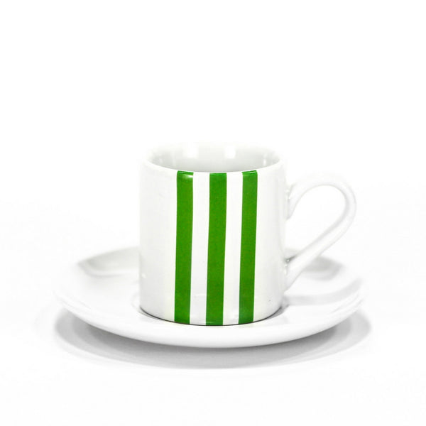 Stripe Espresso Cup Green - Set of 4