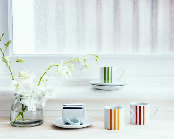 Espresso Cup Set with three stripes