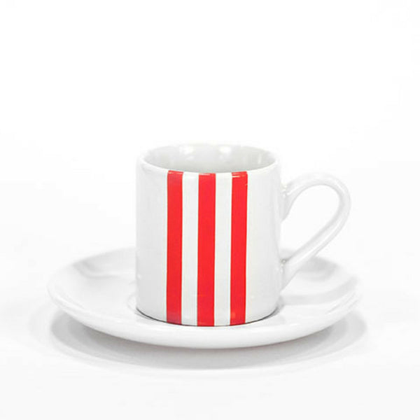 Stripe Espresso Cup Red - Set of 4