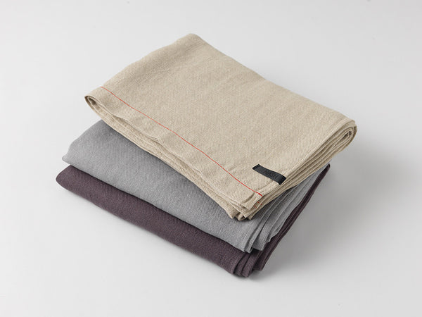 Hiln Throw Blanket | Linen | Stack