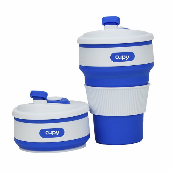 Cupy Collapsible Coffee Cup Navy Blue Australia