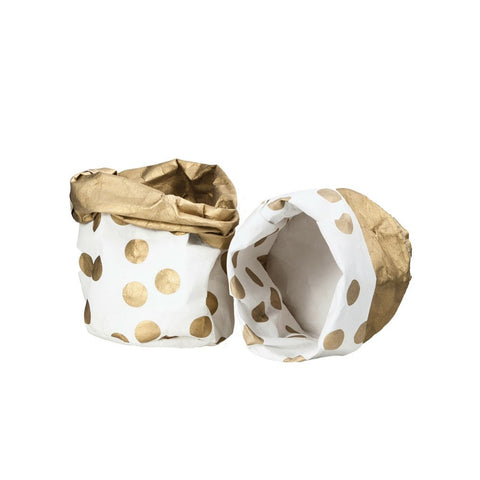 Decorate - Gold Spot Washable Paper Bag | Small