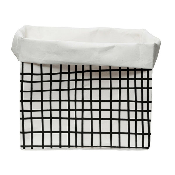 Grid Washable Paper Bag | Large