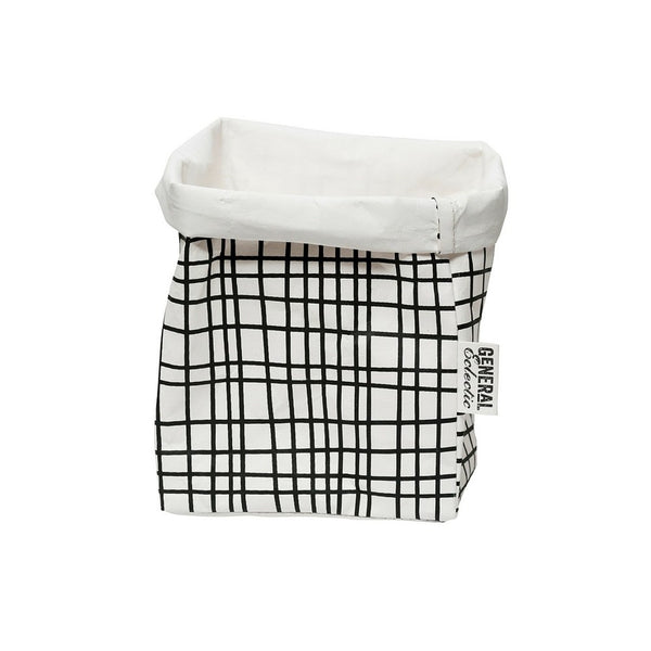 Grid Washable Paper Bag | Small