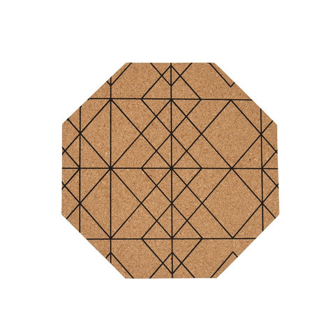 Tableware - Octagon Cork Placemat | Set Of 4