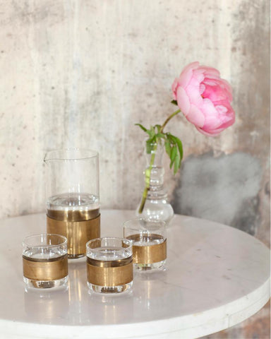 Copper Glass Tumblers and Carafe - Cocktail