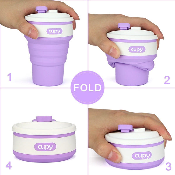 Cupy Collapsible Reuseable BPA Free Coffee Cup Lilac