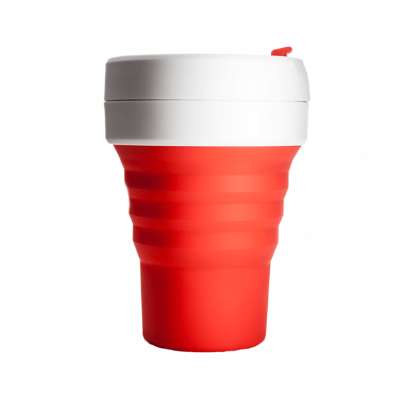 Stojo Pocket Collapsible Cup - Red