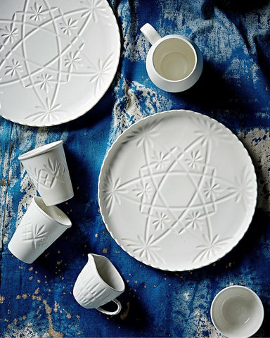 Tableware Ceramics - Hardware Lane Cake Plate - White