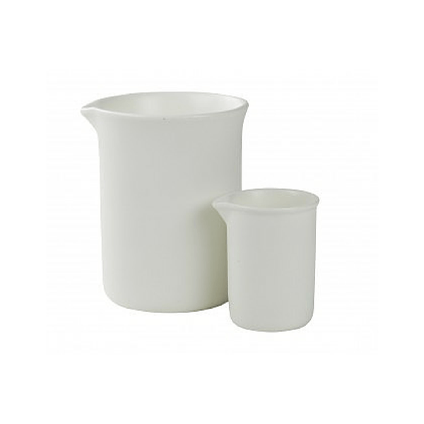White Labware Large & Small Beaker