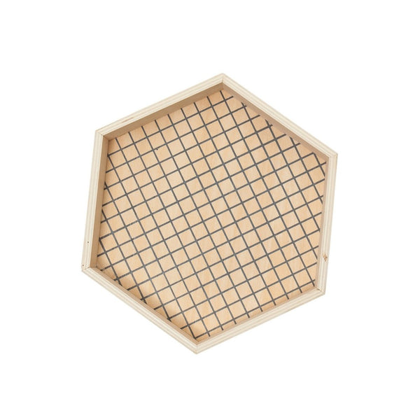 Hexagon Wooden Tray