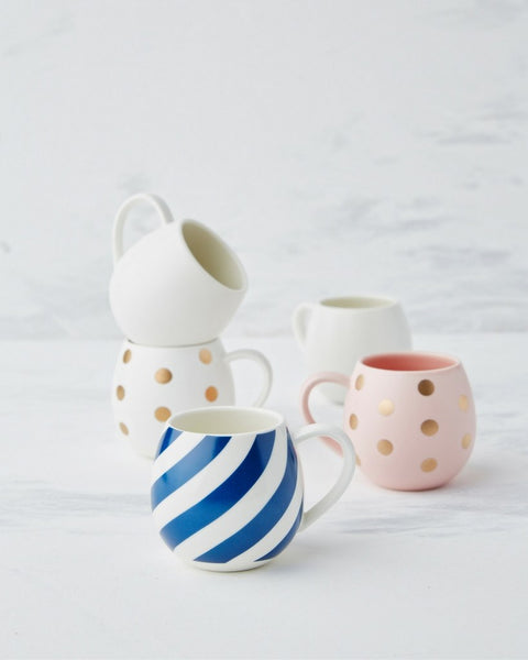 Tableware Robert Gordon Ceramics - Kids Mini Hug Me Mug - White & Gold