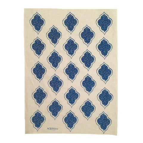 Tableware Aqua Door Designs - Lanterns Linen Tea Towel In Navy