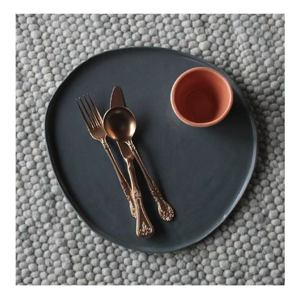 Tableware Ceramics - Kaz Morton Pebble Platter - Charcoal
