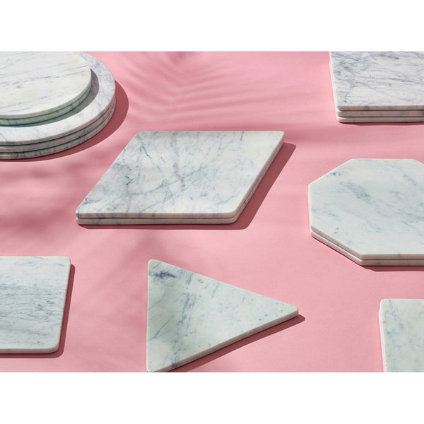 Tableware Marble Basics -  Marble Equilateral Triangle Trivet