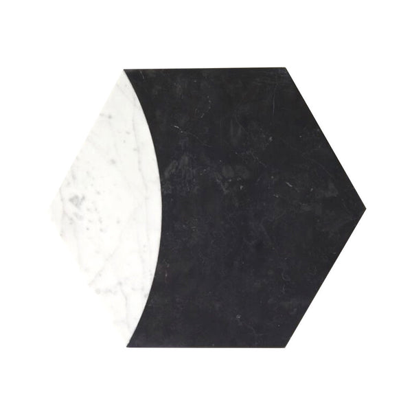 Hexagon Marble Trivet | Vertex Nero