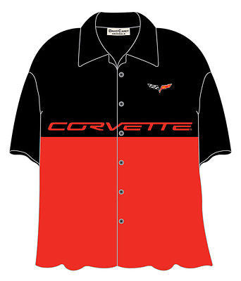 Chevy Corvette C6 Logo and Font Bowling Camp Club Shirt by David Carey Apparel