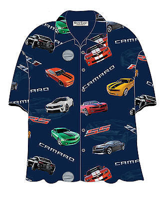 Chevrolet 2013 Camaro Hawaiian Bowling Camp Shirt by David Carey Apparel