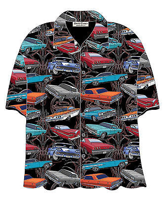 Chevrolet Impalas Classic Hawaiian Bowling Camp Shirt by David Carey Apparel