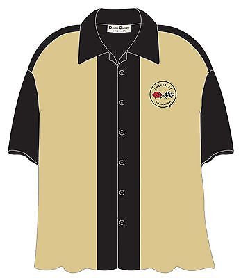 Chevy Corvette C1 Bowling Camp Club Shirt by David Carey Apparel
