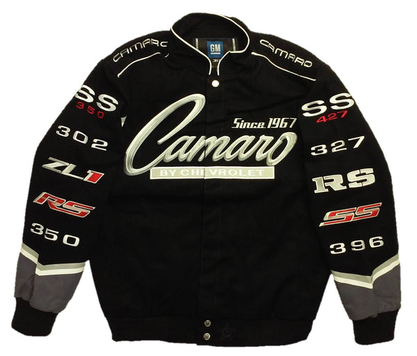 Camaro Twill Jacket with Embroidered Logos by JH Design