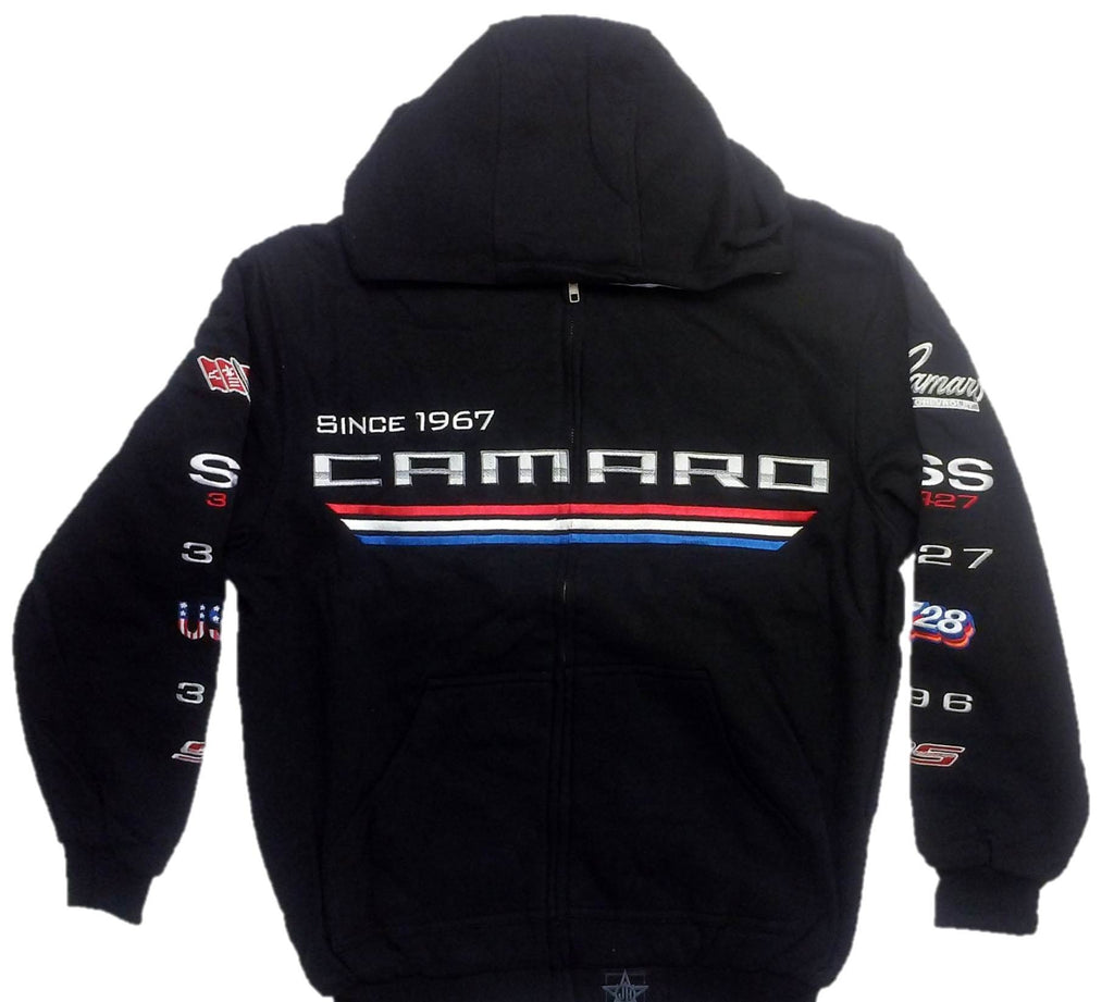 Chevrolet Camaro Since 1967 Zip-up Hoodie with Screen Printed Logos by JH Design