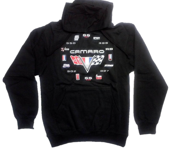 Camaro Men's Hoodie with Screen Printed Logos by JH Design