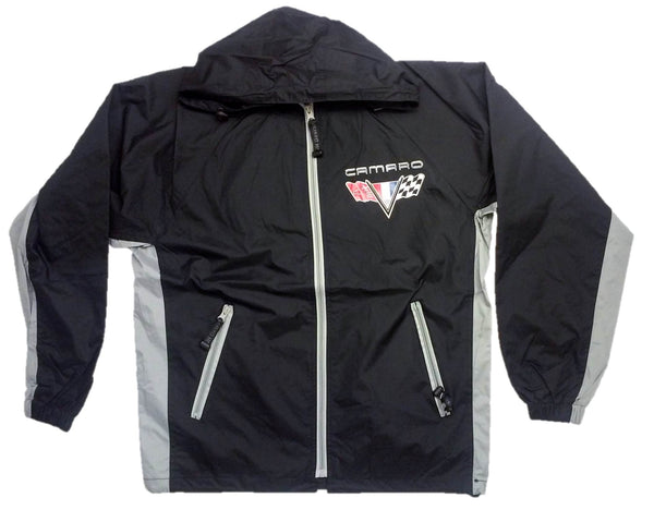 Camaro Racing Raincoat Windbreaker Jacket w/ Packing Pouch