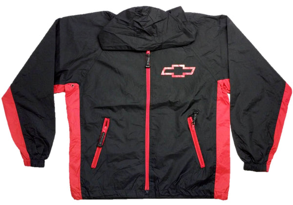 Chevrolet Racing Raincoat Windbreaker Jacket w/ Packing Pouch