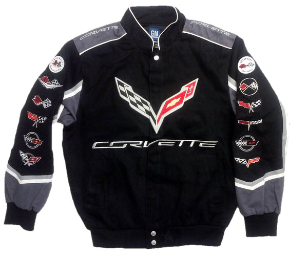 Corvette C7 Twill Jacket with Embroidered Logos by JH Design