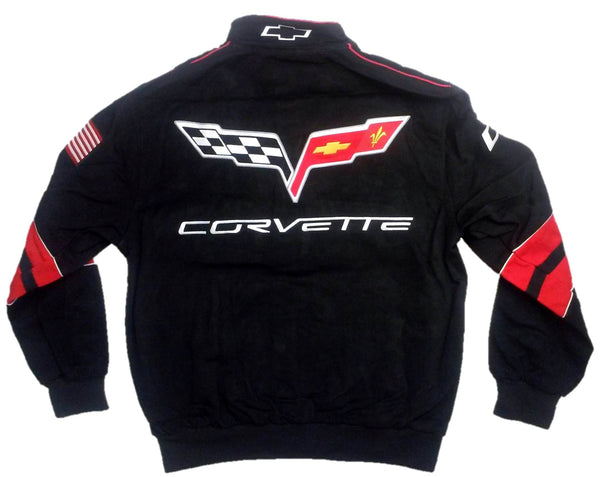 Corvette Men's Twill Jacket with Embroidered Logos by JH Design